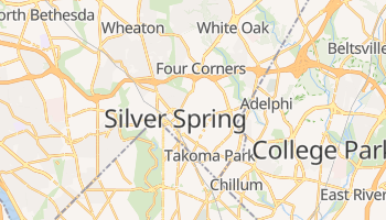 Silver Spring, Maryland map