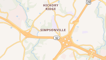 Simpsonville, Maryland map