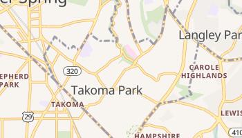 Takoma Park, Maryland map