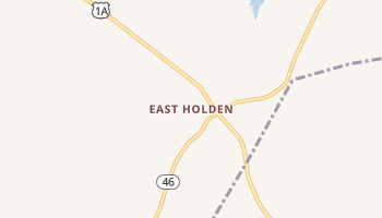East Holden, Maine map