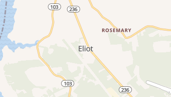 Eliot, Maine map
