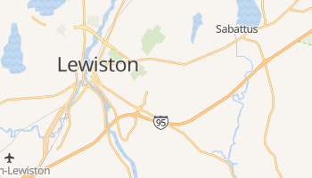 Lewiston, Maine map