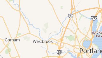 Westbrook, Maine map
