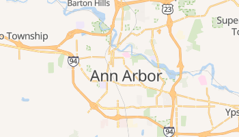 Ann Arbor, Michigan map