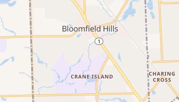 Bloomfield Hills, Michigan map