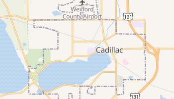 Cadillac, Michigan map