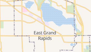 East Grand Rapids, Michigan map