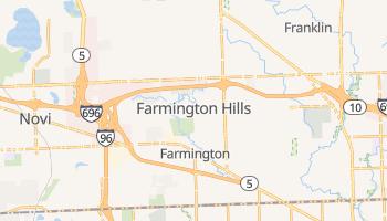 Farmington Hills, Michigan map