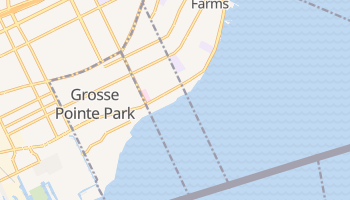 Grosse Pointe, Michigan map