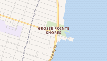 Grosse Pointe Shores, Michigan map