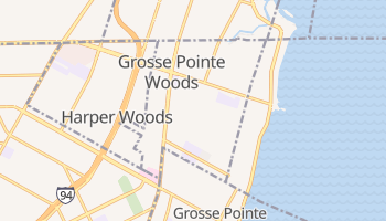 Grosse Pointe Woods, Michigan map