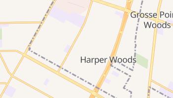 Harper Woods, Michigan map
