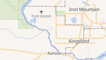 Kingsford, Michigan map