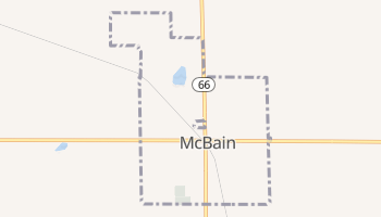 McBain, Michigan map