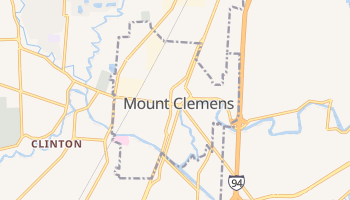 Mount Clemens, Michigan map