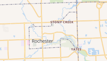 Rochester, Michigan map
