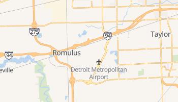 Romulus, Michigan map