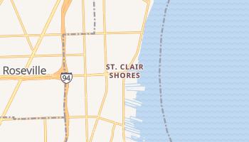 Saint Clair Shores, Michigan map