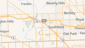 Southfield, Michigan map