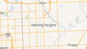 Sterling Heights, Michigan map