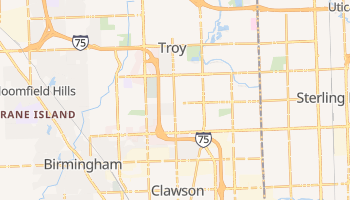 Troy, Michigan map