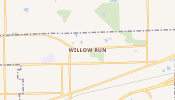 Willow Run, Michigan map