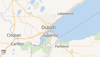 Duluth, Minnesota map