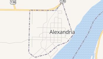 Alexandria, Missouri map