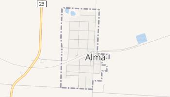 Alma, Missouri map