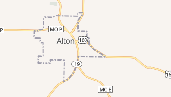 Alton, Missouri map