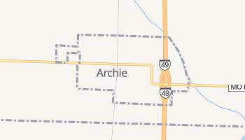 Archie, Missouri map