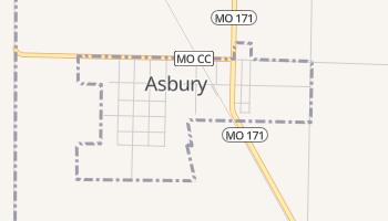 Asbury, Missouri map