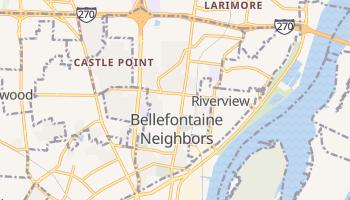 Bellefontaine Neighbors, Missouri map