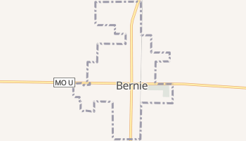 Bernie, Missouri map