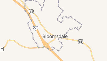 Bloomsdale, Missouri map