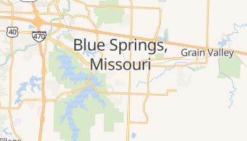 Blue Springs, Missouri map