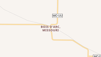 Bois D'Arc, Missouri map