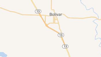 Bolivar, Missouri map