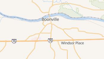 Boonville, Missouri map