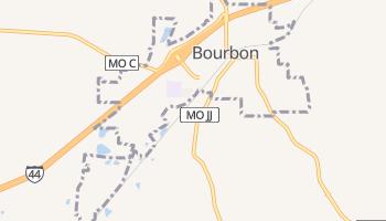 Bourbon, Missouri map