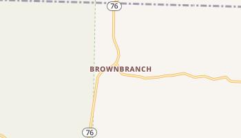 Brownbranch, Missouri map