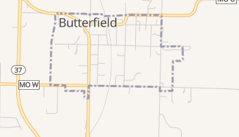 Butterfield, Missouri map