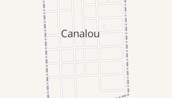 Canalou, Missouri map
