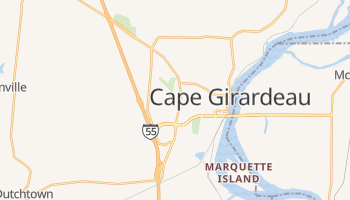 Cape Girardeau, Missouri map