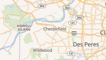 Chesterfield, Missouri map