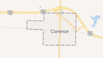 Clarence, Missouri map