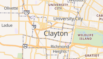 Clayton, Missouri map