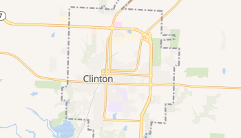 Clinton, Missouri map