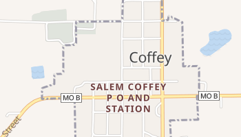 Coffey, Missouri map