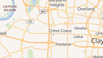 Creve Coeur, Missouri map